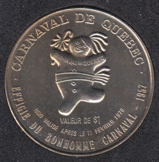 Quebec - 1978 Carnival of Quebec - 1957/Boat - Trade Dollar