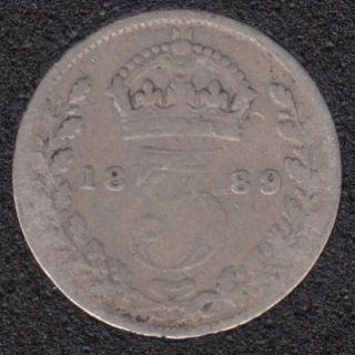 1889 - 3 Pence - Grande Bretagne