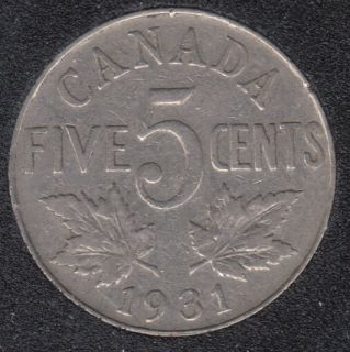 1931 - Canada 5 Cents