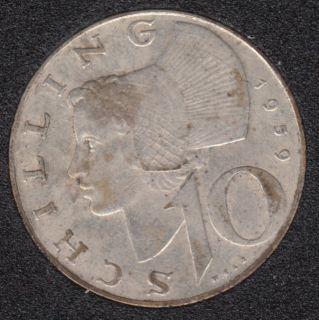 1959 - 10 Schilling - Autriche