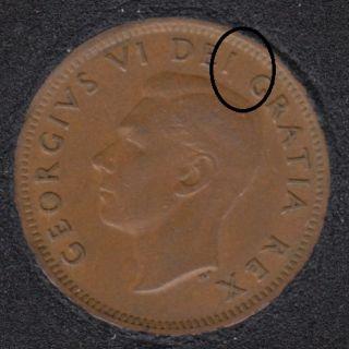 1950 - Break Between I & G - Canada Cent