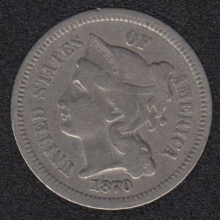 1870 - Nickel 3 Cents