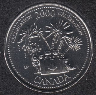 2000 - #7 NBU - Celebration - Canada 25 Cents