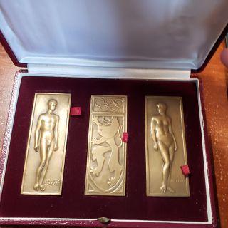 1920 - Anvers Belgique Jeux Olympique - Bronze ensemble de 3 Medailles - Julien Lefevre
