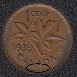 1939 - Break 'NA' - Canada Cent