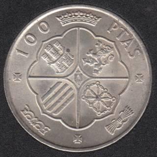 1966 (66) - 100 Pesetas - Silver