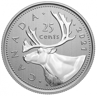 2021 - Specimen - Canada 25 Cents