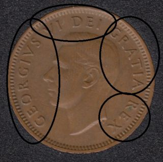 1952 - Double Observe Letter - Canada Cent