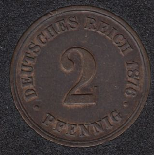 1876 B - 2 Pfennig - Germany