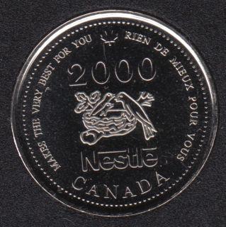 2000 - #913 NBU - Nestle Medaillon - Canada 25 Cents