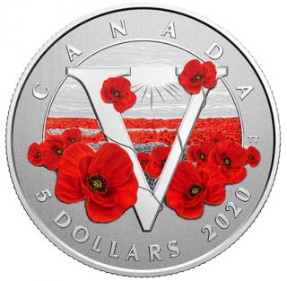 2020 - $5 - Pièce en argent pur – Grands moments : Jour du Souvenir