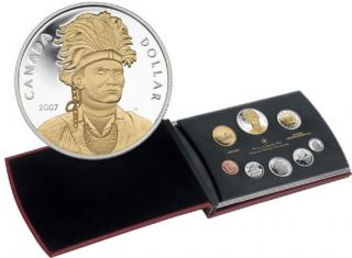 2007 Proof et with Special Gold-Plated Joseph Brant Silver