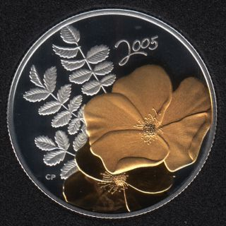 2005 - Proof - Golden Rose - Sterling Silver - Canada 50 Cents
