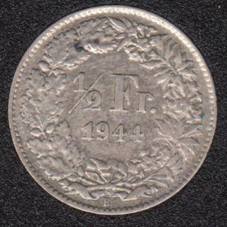 1944 B - 1/2 Franc - Suisse