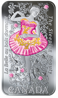 2019 - $20 - 1 oz. Pure Silver Coloured Coin - The Sleeping Beauty