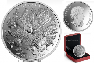 2017 - $30 - 2 oz. Pure Silver Coin - Flora and Fauna of Canada