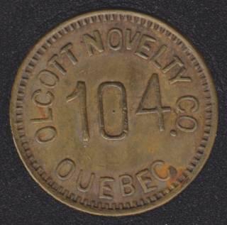 OLCOTT NOVELTY CO. Quebec - Good for 5¢ in Trade