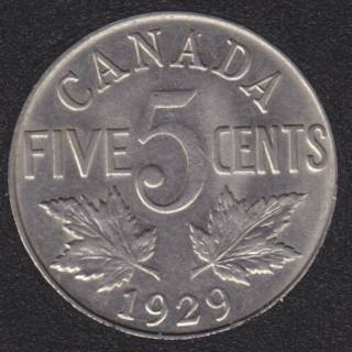 1929 - EF/AU - Canada 5 Cents