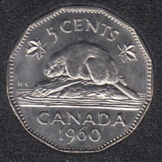 1960 - B.Unc - Canada 5 Cents