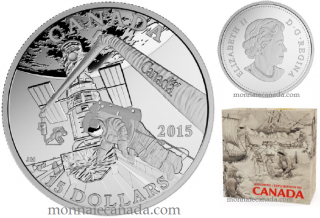 2015 - $15 - Fine Silver Coin - Exploring Canada - Space Exploration