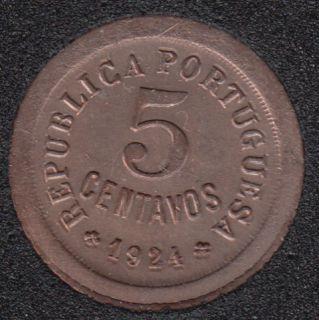 1924 - 5 Centavos - Unc - Portugal