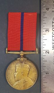 #1-266 King Edward VII Coronation Police Medal 1902
