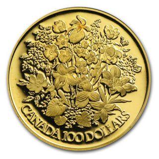 1977 Canada $100 Gold 22K - Silver Jubilee Queen