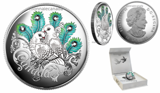 2016 - $10 - Fine Silver Coin made with Swarovski® crystals – Celebration of Love