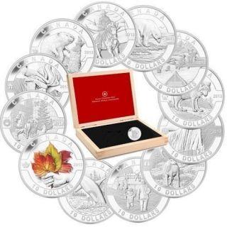 2013 - $10 - 1/2 oz. Fine Silver 12-Coin Set - O Canada
