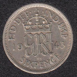 1943 - 6 Pence - Grande Bretagne