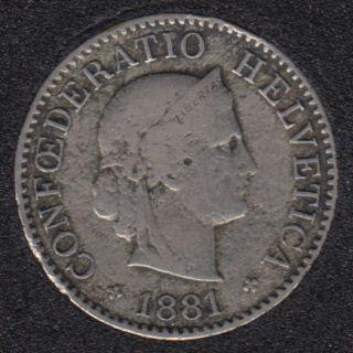 1881 B - 5 Rappen -Switzerland
