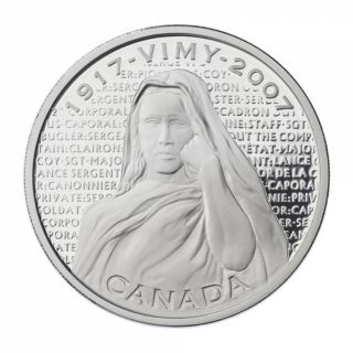 2007 - $30 - Sterling Silver Coin - Vimy Ridge