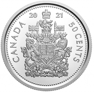 2021 - Proof - Fin Silver- Canada 50 Cents