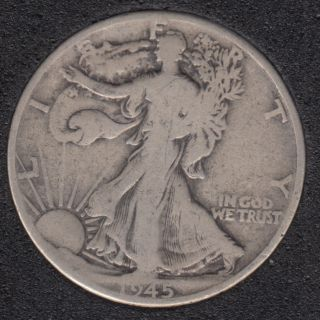 1945 - Liberty Walking - 50 Cents