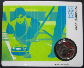 2010 - 25 cents - Vancouver - Curling Circulation Sport Cards