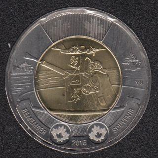 2016 - B.Unc - Remember - Canada 2 Dollars