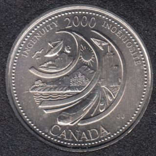2000 - #2 B.unc - Ingenuity - Canada 25 Cents