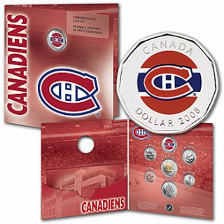 2008 Montreal Canadiens Coin set - $1 Dollar Coloured - Commemorative