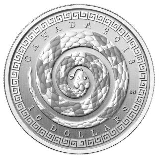 2013 - $10 1/2 oz Fine Silver Coin - Year of the Snake