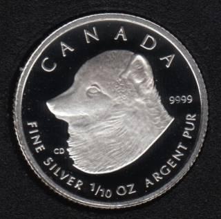 2004 - Proof - Fine Silver 1/10oz - Artic Fox - Canada 2 Dollar