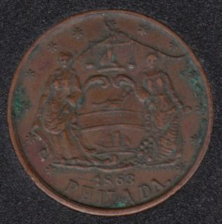 1863 - North Military Hall - Civil War Token