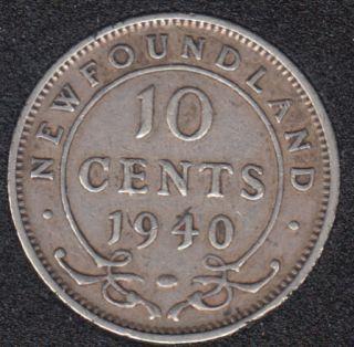 Terre Neuve - 1940 - VF - 10 Cents