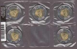 2012 Canada Deux Dollars HMS Shannon - Ensemble de 5 Pieces de Circulation Scellées