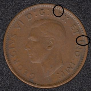 1942 - Break E I to Rim - Canada Cent