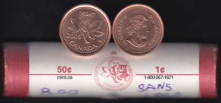 2006 Canada 1 Cent - Non-Mag. - BU ROLL 50 Coins - UNC