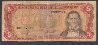 1987 - 5 Pesos Oro - Republique dominicaine