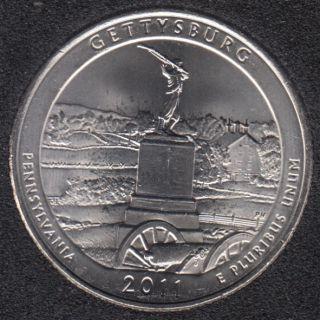2011 D - Gettysburg - 25 Cents