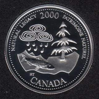2000 - #5 Proof - Silver - Natural Legacy - Canada 25 Cents