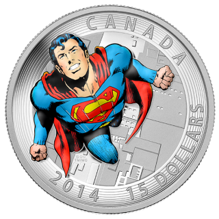 2014 - $15 - Fine Silver Coin - Iconic Superman™ Comic Book Covers: Action Comics #419 from 1972