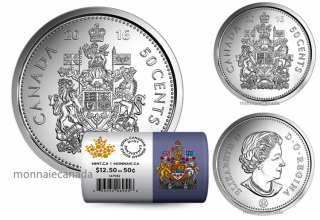 2016 - 50¢ - Rouleau spécial de pièces de circulation de 50 cents